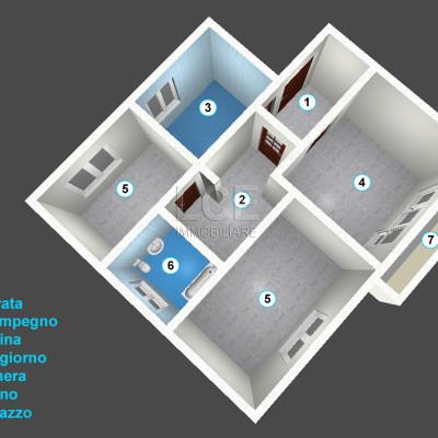 2 Camere 3° Piano – Pordenone – rif.# IMV-F01/19